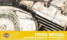2017 Harley Trike FLHTCUTG Tri Glide Owner's Owners Owner Manual Guide 83390-17A