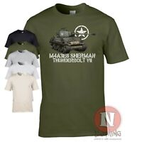 M4A3E8 Sherman tank t-shirt Easy 8 Thunderbolt WW2 d-day vehicle allied WWII WoT