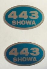 HONDA CB400N SUPERDREAM FRONT FORK SHOWA CAUTION WARNING LABEL DECALS X 2