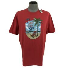 NWT Tommy Bahama Mens L First Class Seat Tee Crewneck Graphic T Shirt