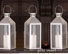 "6 Silver 15"" tall Candle holder Lantern malta light wedding table decoration"