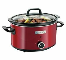 Crock-Pot 3.5L Compact Slow Cooker kitchen appliance Red