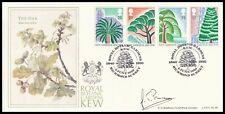 1990 GB Kew Gardens 150th Anniv FDC Bradbury LFDC88 Signed SIR GHILLEAN PRANCE