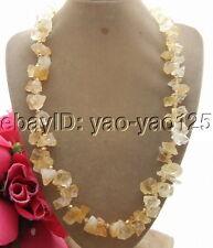 "R101204 22"" Citrine Rough&Crystal Necklace"