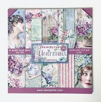 Scrapbook Paper Pad By Stamperia 10 Vintage Themed Double Sided Pages, Size 8x8""