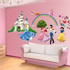 Princess & Prince Castle Cartoon Wall Sticker Vinyl Art Decals Girls Room Decor