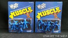SDCC Comic Con 2017 EXCL M.U.S.C.L.E. / MUSCLE THE WORST Blue Two 3 pack SUPER7