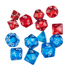 DADI gem Ruby Red traslucido Set 7pc d20 d12 d10 d8 d6 D/&D Gioco di plastica