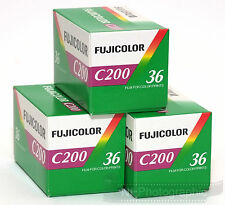 Fuji Fujicolour C200 35mm 36exp 3 Rolls Cheap Colour Film Free UK Postage