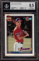 Rare 1991 Topps Tiffany #333 Chipper Jones Braves Rookie HOF BGS 8.5 NM-MT+