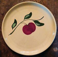 Vintage Watt Pottery #49 Apple & Leaf Round Platter, Chop Plate, Cake Plate