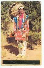 Post Card, Indian Chief (posted 1957 Craig, Colorado(indiansA78