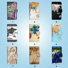World Map Flip Wallet Case Cover for Sony Xperia Z2 Z3 Z5 LG G5