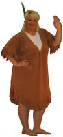 INDIAN SQUAW ,FANCY DRESS COSTUME.COWBOYS AND INDIANS, WESTERN PLUS SIZE 18-40