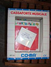 80'S Vintage Co-Ma Musical Safe Piggy Bank Saving Money Box Mib