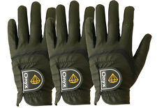 Onyx Mens Premium LH Golf Gloves 3 Pack All Weather Left Hand Extra Large Black