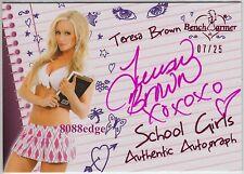 2011 BENCHWARMER LIMITED SCHOOL GIRL AUTO: TERESA BROWN #7/25 PINK AUTOGRAPH