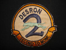 "US Navy Destroyer Squadron DESRON 2 ""SECOND TO NONE"" Patch"