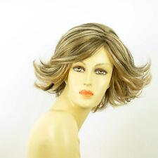 Perruque femme méchée courte blond clair méché cuivré chocolat JEANNETTE 15613H4