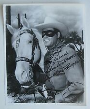 Vtg Hollywood Star Cowboy The Lone Ranger Clayton Moore Autographed Photo SIGNED