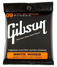 Gibson Brite Wires Ultra Light Mediums E-Gitarren Saiten Stärke .009 - .046