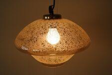 Vecchia lampada a sospensione Lampada DDR culto Design Retrò anni 70er VETRO ORO