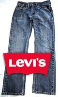 Levi's Jeans, 505™ Regular Fit Men's Jeans, Blue Denim, W32 x L32, Pre-Owned