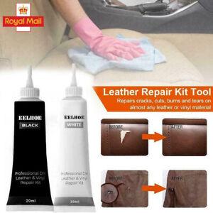 Black Leather Vinyl Repair Gel Kit For Furniture/Couch/Car Seats/Sofa/Jacket UK
