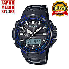 CASIO PRO TREK PRW-6100YT-1BJF Black Titanium BLUE LIMITED JAPAN PRW-6100YT-1B