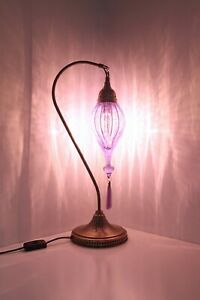 NEW DESIGN-Turkish table lamp cracked Blown Glass crack different color
