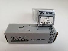 New listing Set of 2 ~ Wac Lighting Halogen Lamp Bulb Jc-50 12V 50W G6.35 bi-pin Cl New