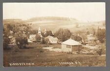 1914 Real Photo Postcard Lebanon, New York Bird's Eye View Shaker Village