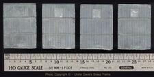 LOT OF 4 VINTAGE CAST METAL P-8 BOX CAR DOORS: FIX BROKEN OR MISSING BRASS PARTS