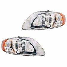 Fits Chrysler Town & Country Caravan Driver + Passenger Headlight Lamp 1 Pair