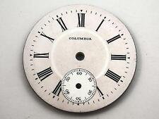 Pink Columbia Vintage Watch Dial for Pocket Watches Roman Numeral Mrkrs 34mm NOS