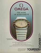 1984 OMEGA Constellation Manhattan : Magazine  PRINT  AD