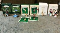 Lot of 6 Various Hallmark Disney Miniature Ornaments Tinker Bell, Pinocchio, etc