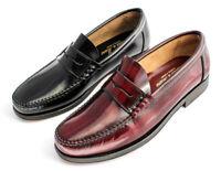 Herren Leder Anzug Schuhe Castellanos Penny Loafer Slipper Business Mokassins
