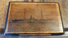 1896 ANTIQUE RELIC WOOD FROM SS DRUMMOND CASTLE - SHIPWRECK PLAQUE