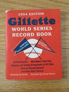 Vintage 1954 Gillette WORLD SERIES RECORD BOOK 1953 NEW YORK YANKEES Champions