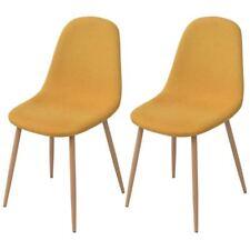 vidaXL Sillas de Comedor Pack de 2/4 Unidades Material Tela Color Azul/Amarilla