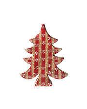 BNWT Namaste Red Stripe Wooden Christmas Tree!