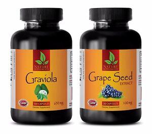 Energy medicine – GRAVIOLA - GRAPE SEED EXTRACT COMBO - graviola seeds pills