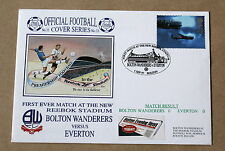 BOLTON V EVERTON 1ST MATCH AT NEW REEBOK STADIUM 1997 DAWN COVER