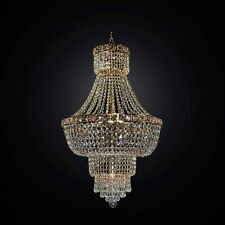 LAMPADARIO CLASSICO IN CRISTALLO ORO 9 LUCI BGA 2810/50 DESIGN SWAROVSKY