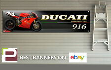 Ducati 916 Motorbike Banner for Workshop, Garage, Pit Lane, 1300mm x 325mm