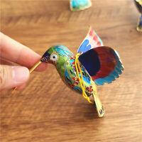 1PCS 1970s Exlusive Chinese Handmade Enamel Cloisonne Blue Hummingbird Figurine
