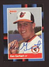 Ken Gerhart--Autographed 1988 Donruss Baseball Card--Baltimore Orioles