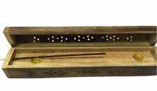 Indian Wooden Incense Stick Holder Joss Stick Burner Ash Catcher Traditional Box