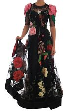 Dolce & Gabbana Dress Crystal Fairy Tale Floral Lace Gown It38 /us4/s